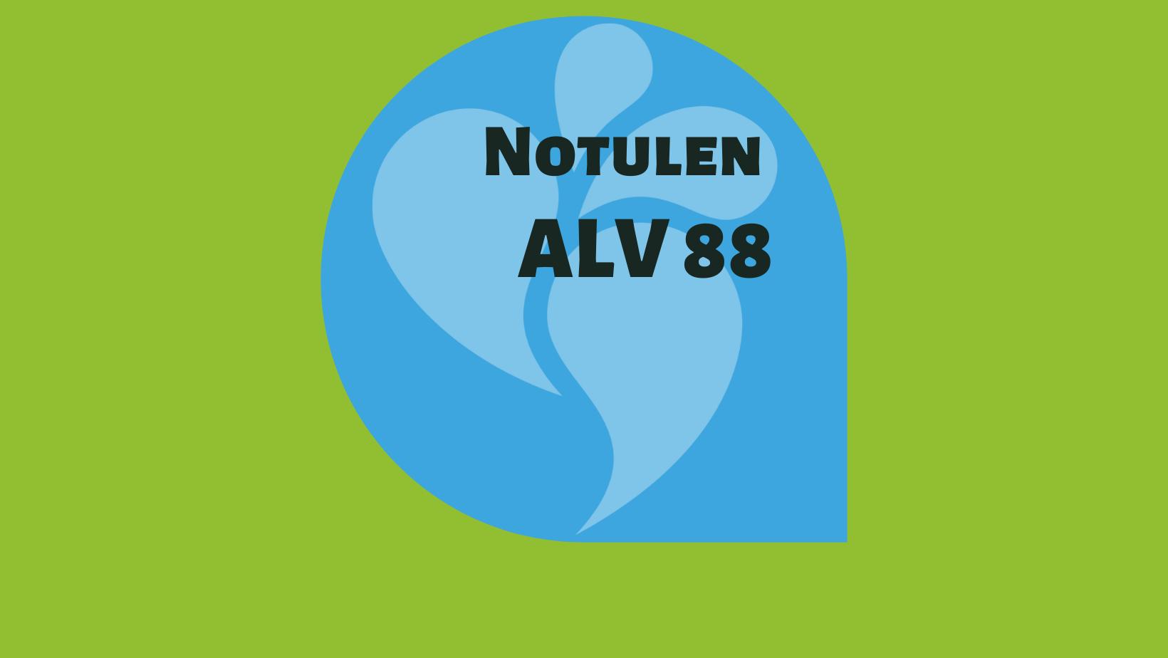 Notulen ALV 88