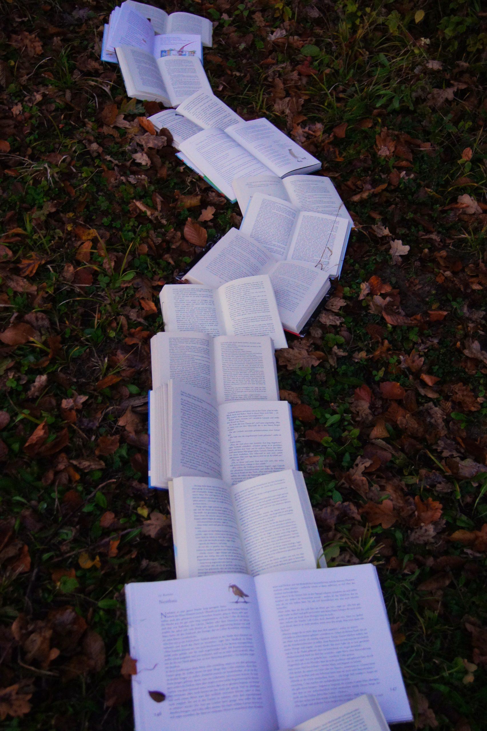 books on ground